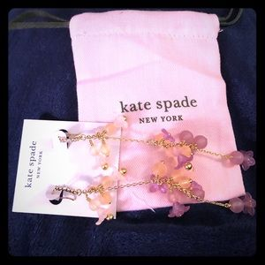 Kate spade Pink full floret statement earrings